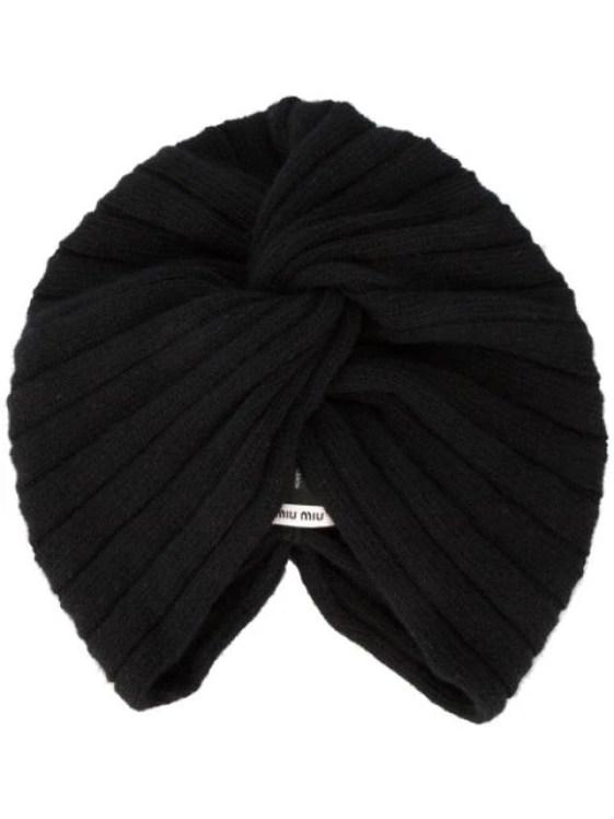 Miu Miu knitted turban hat