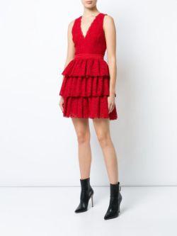Alice+Olivia sleeveless ruffled dress