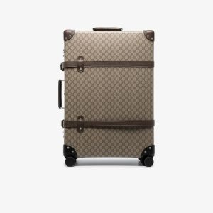 Gucci Mens Brown Globe-trotter Gg Canvas Suitcase