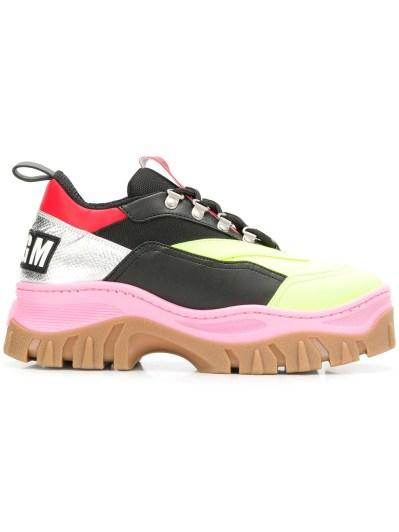 MSGM массивные кроссовки в стиле колор-блок
