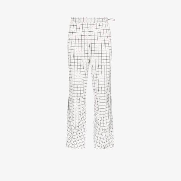 A-cold-wall* Mens Multicoloured Check Print Trousers