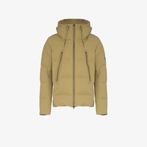 Descente Allterrain Mens Green Padded Mizusawa Down Hooded Jacket