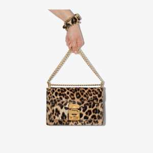 Miu Miu Womens Brown Miu Confidential Leprd Shldr Bg
