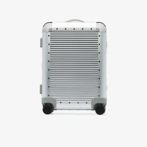 Fpm Milano Silver Tone Bank Spinner 58 Suitcase