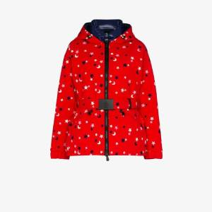 Moncler Womens Red Gardenia Padded Jacket