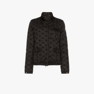 Moncler Genius Womens Black X Simone Rocha Hillary Embroidered Floral Jacket