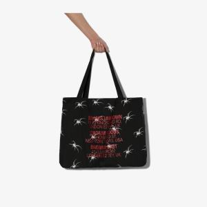 Services Unknown X Browns East Womens X Browns East Black And White Spider Tote Bag