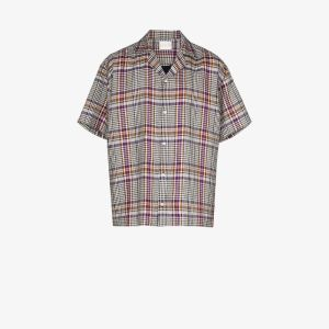 Lou Dalton Mens Purple Check Button-down Shirt