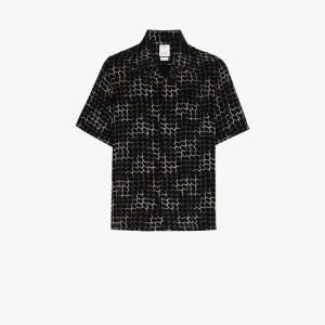 Visvim Mens Black Printed Boxy Shirt