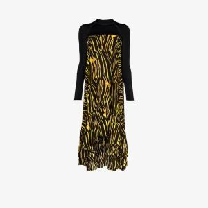 Marine Serre Womens Multicolour Printed Hybrid Turtleneck Tent Dress