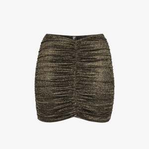 Lisa Marie Fernandez Womens Metallic Ruched Mini Skirt