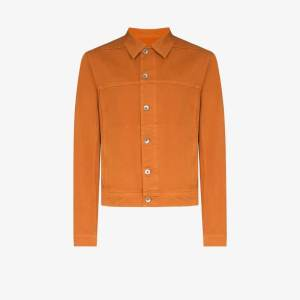 Rick Owens Drkshdw Mens Orange Worker Denim Jacket