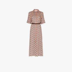 Evi Grintela Womens Multicolor Tangier Printed Maxi Shirt Dress