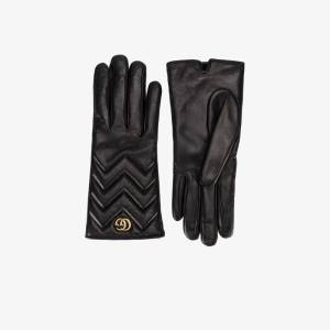 Gucci Womens Black Gg Marmont Gloves