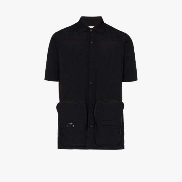 A-cold-wall* Mens Black Cargo Pocket Shirt