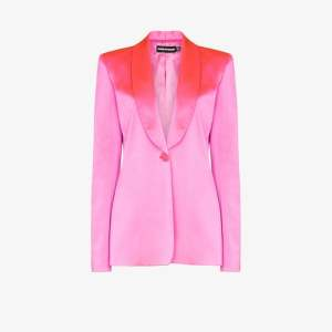 House Of Holland Womens Pink Tailored Satin Blazer