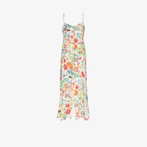 All Things Mochi Womens White Melissa Floral Print Maxi Dress