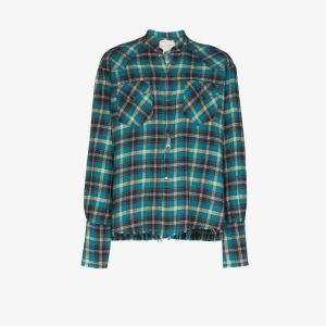 Greg Lauren Mens Multicolour Western Check Cotton Shirt