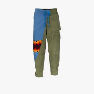 Greg Lauren Mens Multicolour 50/50 Cargo Trousers