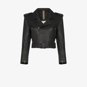 Lot Lthr Womens Black Lola Leather Biker Jacket