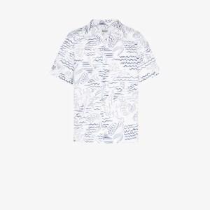 Kenzo Mens White Sea Print Shirt