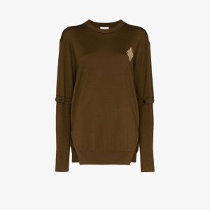 Chloé Womens Brown Fine Knit Wool Sweater