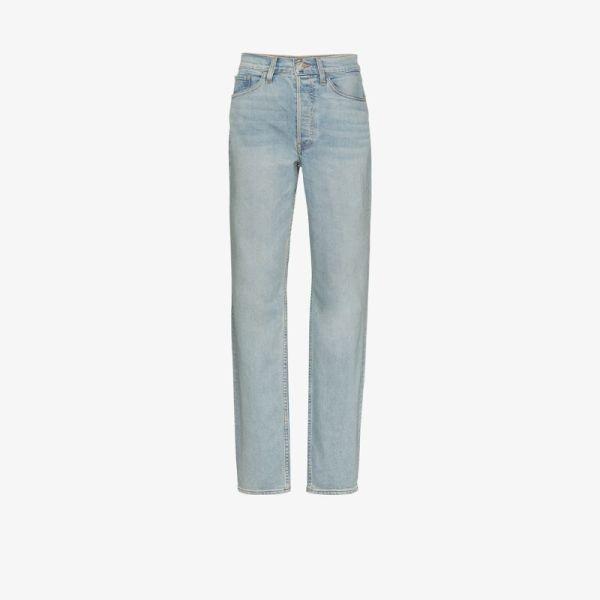 3×1 Womens Blue X Mimi Cuttrell Kirk Mid-rise Boyfriend Jeans