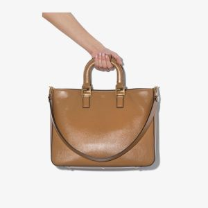 Fendi Womens Brown Gloria Medium Tote