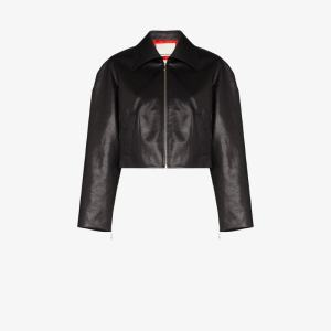 Samuel Guì Yang Cropped Faux Leather Jacket