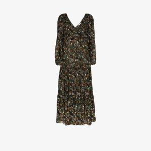 Rixo Womens Green Brooke Floral Print Maxi Dress