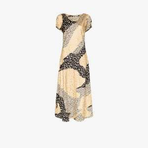 Rixo Womens Neutrals Reese Leopard Print Midi Dress