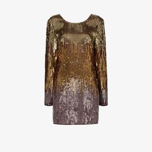 Rixo Womens Gold Aria Sequin Mini Dress