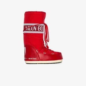 Moon Boot Womens Red Classic Icon Snow Boots