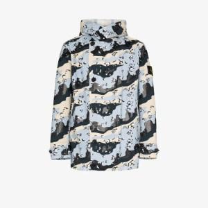 Stone Island camouflage parka jacket