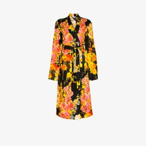Dries Van Noten Womens Multicolour Charly Floral Print Kimono Coat