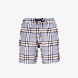 Burberry Mens Blue Check Swim Shorts