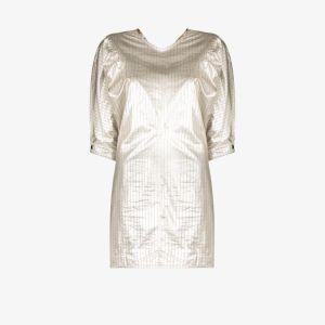 Isabel Marant Womens Silver Pinstriped Mini Dress