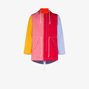Comme Des Garçons Shirt Mens Multicolour Hooded Drawstring Waist Jacket