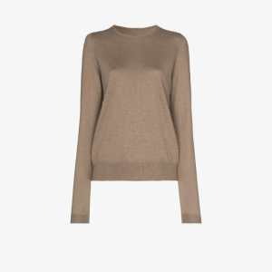 Rick Owens Womens Neutrals Boiled Cashmere Sweater