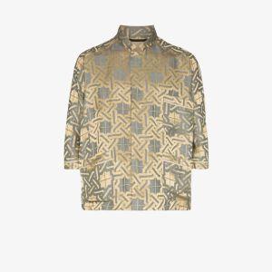 Haider Ackermann Mens Gold Amiral Pyjama Style Shirt