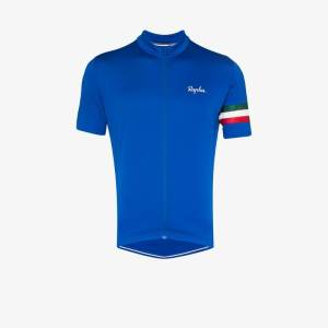Rapha Mens Blue Rapha Mens Blue Clssc Italy Ss Jersey Blu Multi