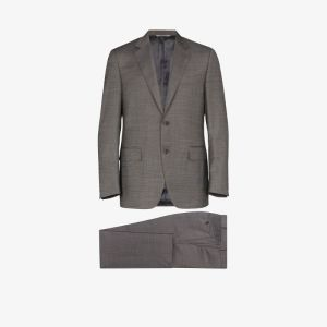 Canali Mens Grey Tailored Formal Wool Suit