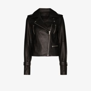 Paige Womens Black Rayven Leather Biker Jacket