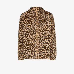 Gramicci Mens Brown Shell Leopard Print Jacket