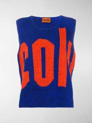 colville knitted logo gilet