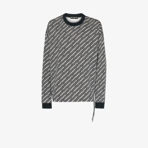 Mastermind Japan Mens Black Logo Stripe Cotton Sweatshirt