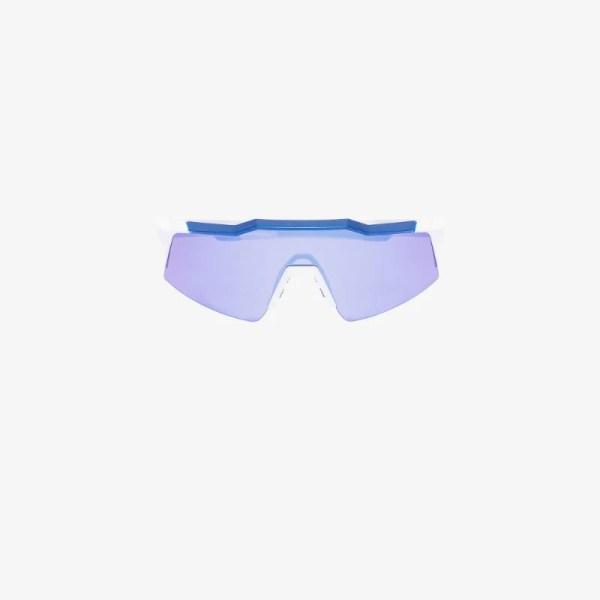 100% Eyewear Mens Blue Speedcraft Cycling Performance Sunglasses