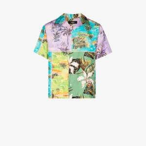 Amiri Mens Multicolour Amri Hawaii Ptchwrk Ss Sht Multi