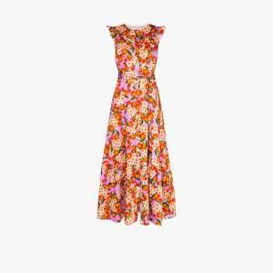 Borgo De Nor Womens Pink Gabriella Fruit Print Maxi Dress