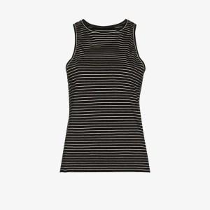 Frame Womens Black Stripe Cotton Tank Top